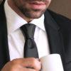Hoodtie - Bijoux de cravate Titanium Noir