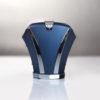 Accessoire de cravate Hoodtie en titane bleu, finitions polies