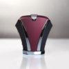 Noeud de cravate en métal (titanium)- Hoodtie bicolore bordeaux/noir avec finitions chromées