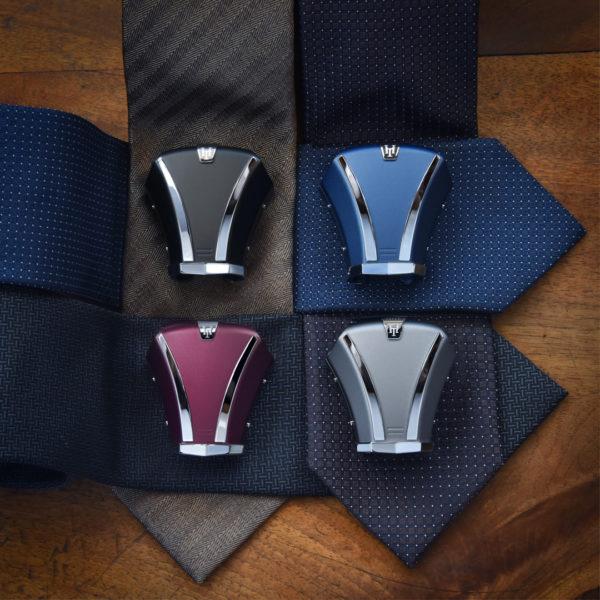 L'accessoire de cravate Hoodtie disponible en 4 couleurs
