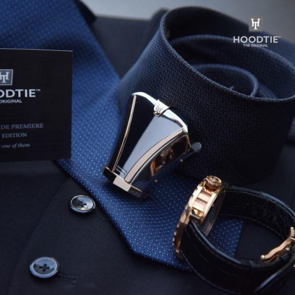 Accessoire de cravate en titane poli